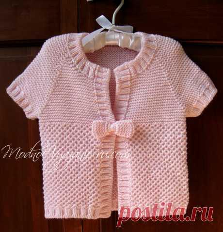 Жилет с бантиком для девочек - Modnoe Vyazanie ru.com