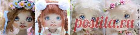 Как нарисовать личико текстильной кукле - Ярмарка Мастеров - ручная работа, handmade