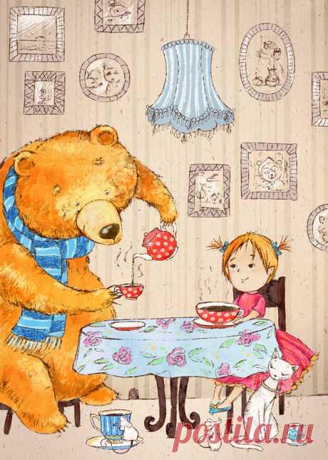 Иллюстрация чаепитие. sallolia (Салль Ольга)