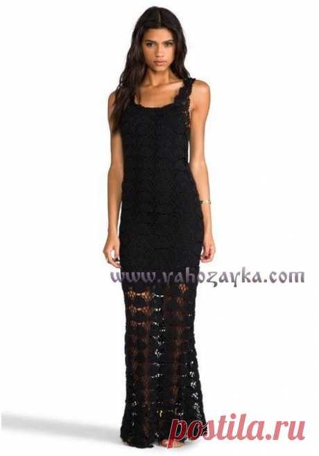 Макси платье крючком схемы. Вяжем красивое черное платье крючком Макси платье крючком схемы. Вяжем красивое черное платье крючком