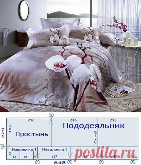 Раскрой постельного белья.