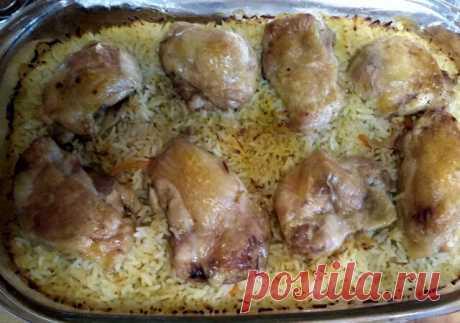 Рис с курицей в духовке - Первоклассная кухня