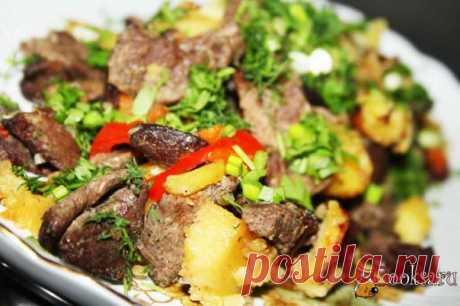 Горшочек с говядиной и овощами