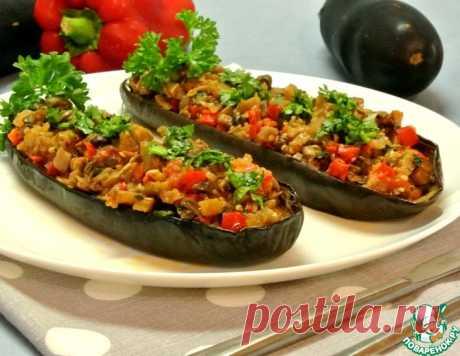 Баклажаны, фаршированные грибами – кулинарный рецепт