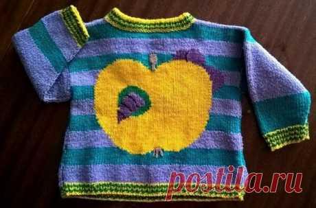 Как связать пуловер с яблочным червяком | Идеи рукоделия | Яндекс Дзен