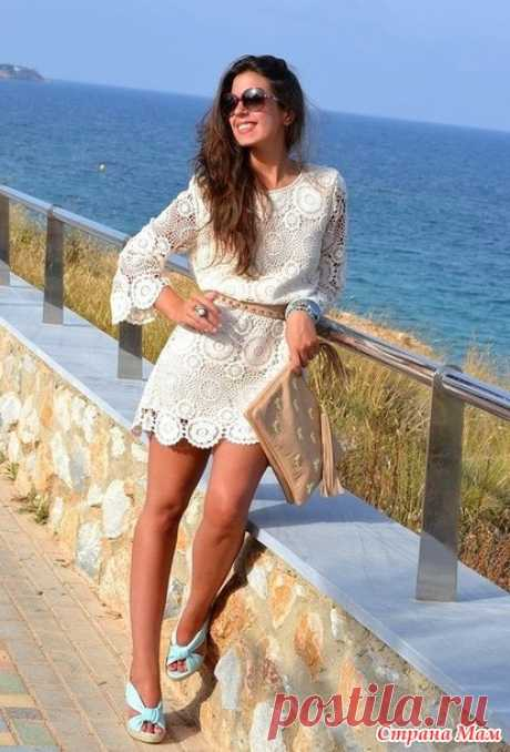 Платье-туника по мотивам Zara он-лайн - Вяжем вместе он-лайн - Страна Мам