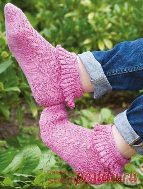 Ажурные носки с оборочкой | ВЯЗАНЫЕ НОСКИ