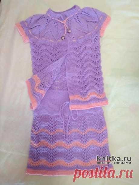 Комплект для девочки 5 лет. Работа Вагановой Татьяны, Вязание для детей
