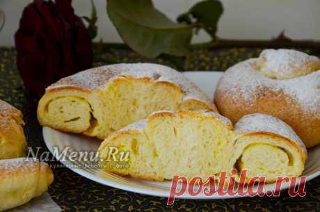 Испанские булочки с заварным кремом, рецепт