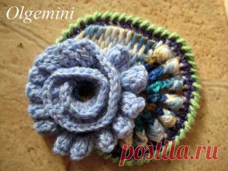 "We learn to knit an element of a friform ""A volume curl\"". Olga Krivenko's master class."
