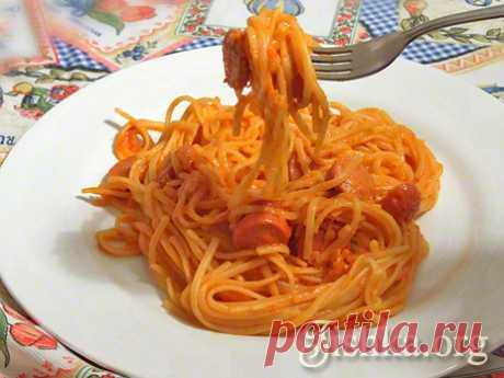 Макароны с сосисками в томатном соусе - Кулинарные пошаговые рецепты с фото.