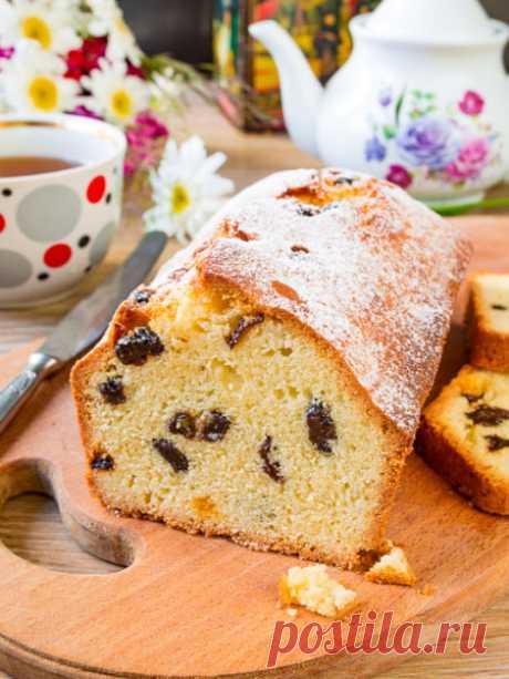 Рецепт кекса с изюмом на Вкусном Блоге