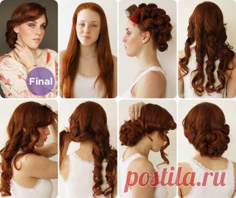 Как сделать ретро на волосах (42 фото): видео-инструкция по применению своими руками, особенности причесок для коротких, средних, длинных шевелюр, цена, фото