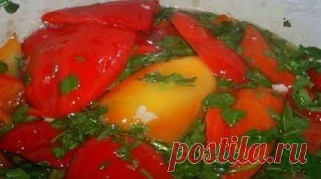 Перец с чесноком на зиму соленый без уксуса