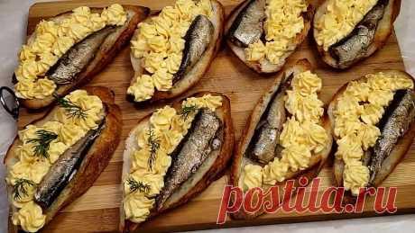 Вкусные и красивые бутерброды на праздничный стол