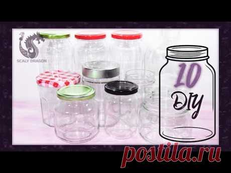 10 IDEAS para DECORAR y reutilizar FRASCOS de vidrio / RECICLAJE Creativo