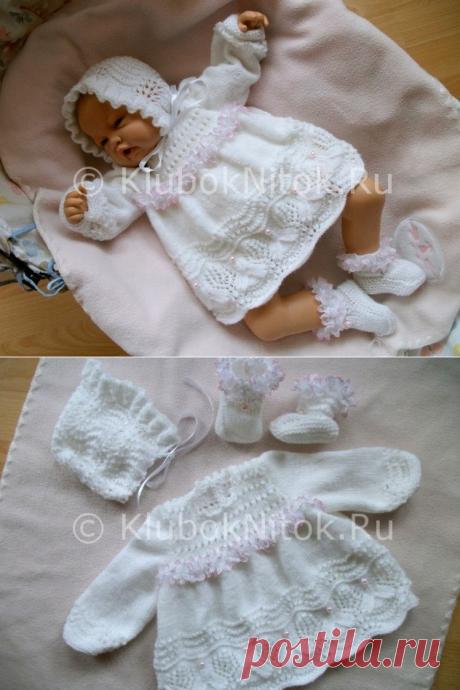 Туника для новорожденной   Вязание для девочек   Вязание спицами и крючком. Схемы вязания.