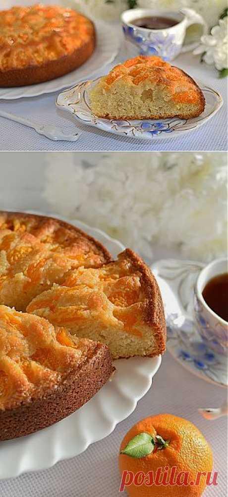 Пирог с мандаринами Солнечный . Рецепт c фото, мы подскажем, как приготовить!