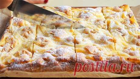 И Торта НЕ НАДО!!! С Яблоками и Кремом этот ПИРОГ просто Бесподобен!!! Простой и быстрый! Приготовила для вас очень быстрый, вкусный и ароматный пирог  с яблоками и кремом. Приготовить такой пирог  сможет каждый и ингредиенты очень доступные. Реко...