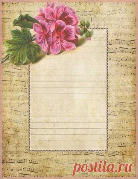Запись на стене Винтажная бумага для писем, блокнотов