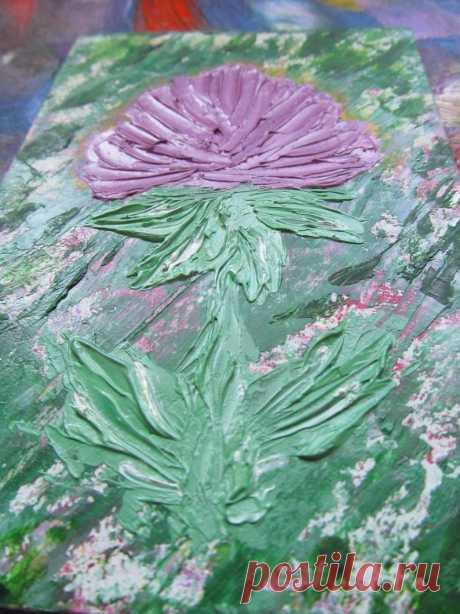 Flieder Blume Ölgemälde Original Kunst Impasto Blume Wand   Etsy
