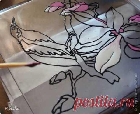 Роспись вазы: роспись по стеклу — Сделай сам, идеи для творчества - DIY Ideas
