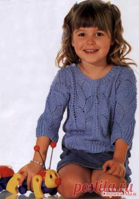 Ажурный пуловер. - Вязание для детей - Страна Мам