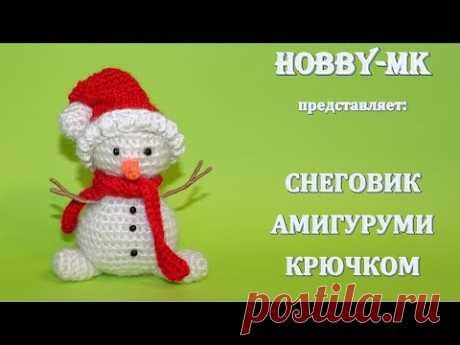 Снеговик крючком (авторский МК Светланы Кононенко)