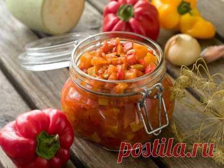 Салат из кабачков и болгарского перца | О вкусной еде