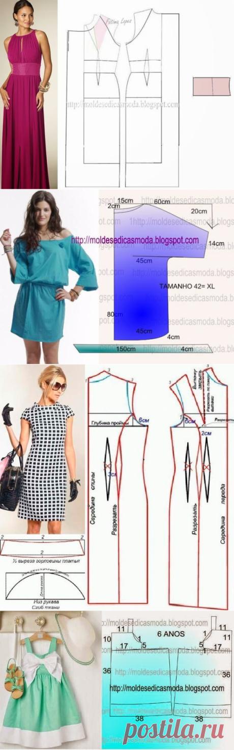 Простые выкройки летних платьев 6