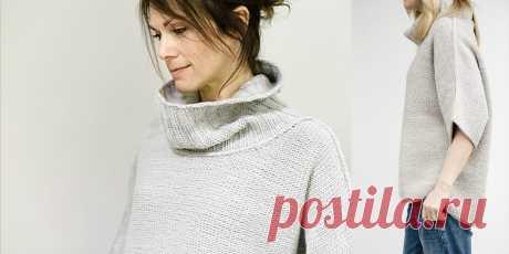 """Свободный свитер Beaubourg Свободный свитер спицами Beaubourg. Свитера свободного кроя или как их еще называют """"оверсайз"""" сегодня имеют невероятную популярность. Джули Хувер предложила свою модель свободного свитера с описанием и для девушек, и для полных женщин."""