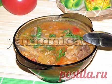 Очень вкусный наваристый суп со свиными рёбрышками и рисом – пошаговый фото рецепт