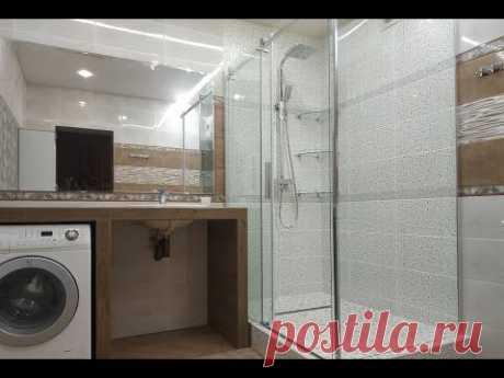 Обзор ванной комнаты Сколько ушло на Материал для ремонта цена