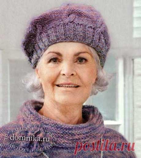 Вязаные шапки для женщин старше 60 лет - описания и схемы вязания спицами