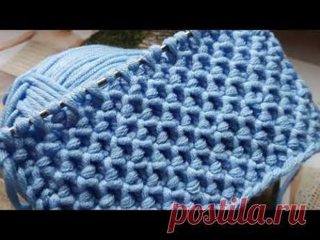 Классный универсальный фоновый узор спицами🧚🏽♀️ knitting pattern. - YouTube