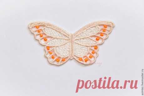вышивка аппликация Разноцветные бабочки кружево ажур – купить в интернет-магазине на Ярмарке Мастеров с доставкой - 8PXEJRU   Москва