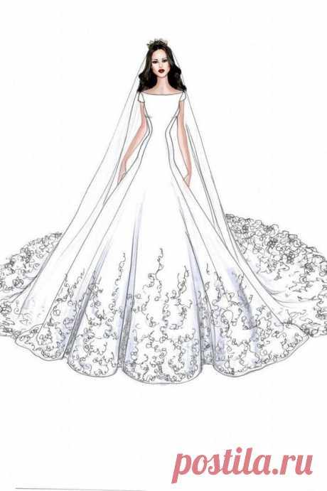 (5) Pinterest - Meghan Markle Dress Prediction... My Royal Wedding Tips are available on my website! #royalwedding #weddingtips C   Wedding Gown Illustrated