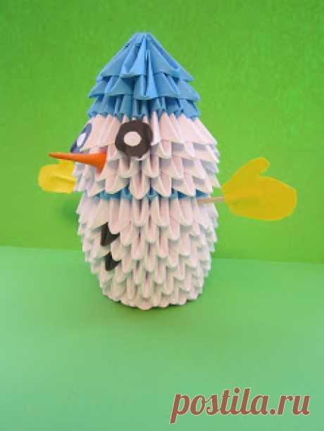 Делоручечка: Модульное оригами. Снеговик.