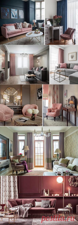 Цвет пыльной розы в интерьере гостиной: сдержанная роскошь с неповторимым шармом | Dream house | Яндекс Дзен
