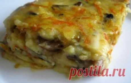 Запеканка картофельная с грибами - как приготовить запеканку с грибами