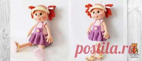 Вязаная кукла в сандалиях и кепке | Амигуруми крючком - Блог