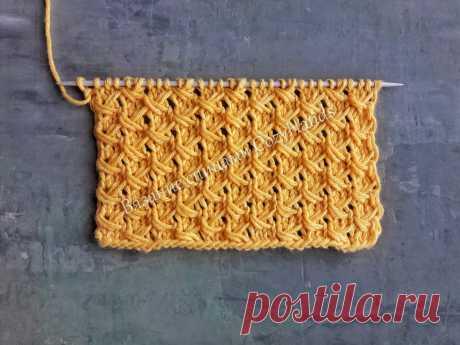 Диагонали - мелкий узор для вязания спицами | Вязание спицами CozyHands | Яндекс Дзен