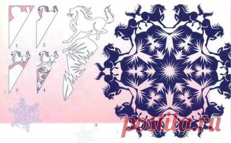 Los copos de nieve (símbolos del horóscopo oriental).