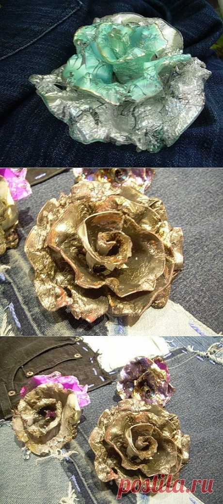 Розы из компьютерных дисков (мастер - класс) / Новогодний интерьер / Модный сайт о стильной переделке одежды и интерьера
