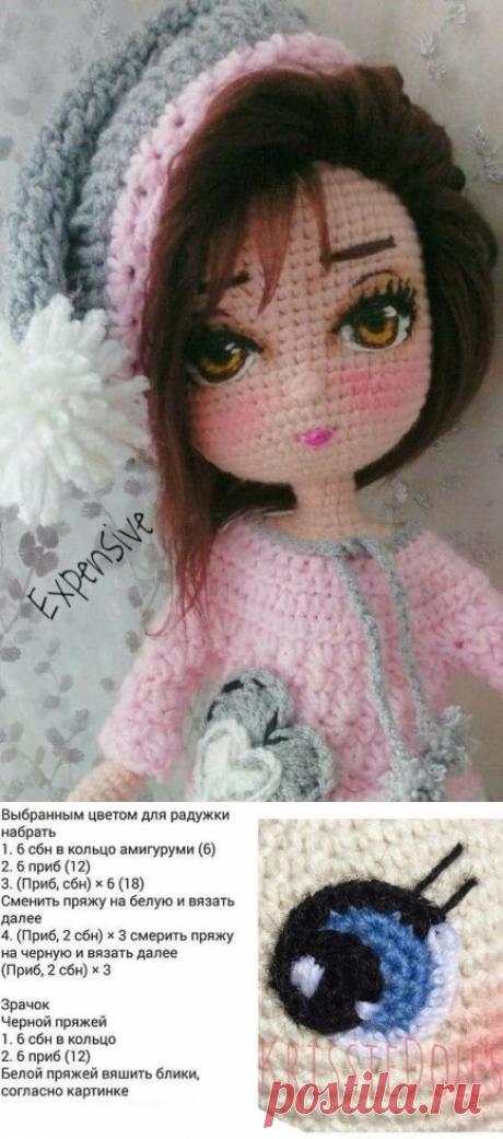 Как сделать глазки вязаным куклам: мастер-класс