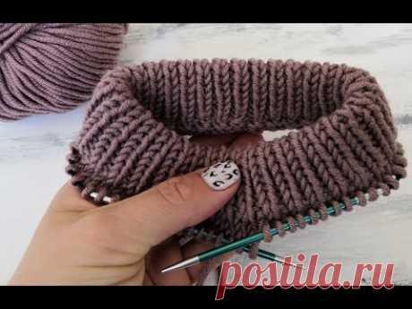 Вяжем красивый ворот спицами резинкой 1х1. Как связать ворот у свитера.
