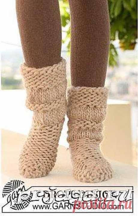 Плотное вязание носков на 2 спицах