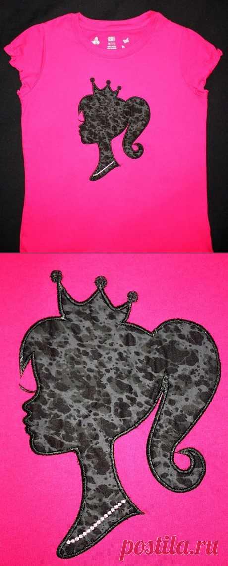 Аппликация с логотипом Барби / Для детей / Модный сайт о стильной переделке одежды и интерьера