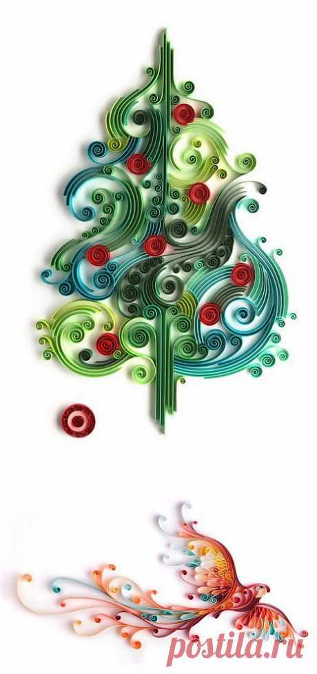 (+1) тема - Удивительный квиллинг Юлии Бродской | Искусство