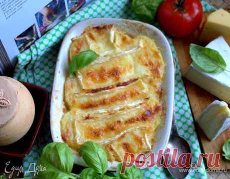 Картофельный гратен под сырной корочкой рецепт 👌 с фото пошаговый